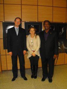 Robert Pluta, Urszula Malmon, and Stan Breckenridge at the Szkoły Muzycznej im. Oskara Kolberga w Radomiu.